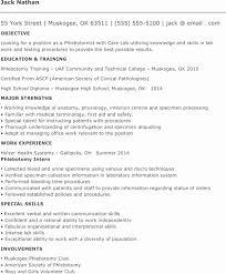 Resumes For Phlebotomist Entry Level Phlebotomy Resume Sample Capriartfilmfestival