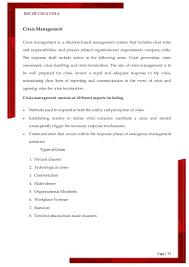 crisis management essay management essay