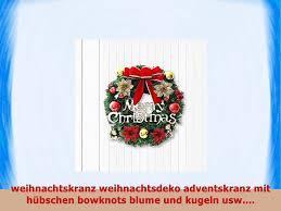 Jinsanshun Weihnachtskranz ø35cm Weihnachtsdeko Weihnachten Kranz Weihnachtsgirlande Kranz