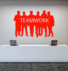 teamwork office wallpaper. Modren Office Vinyl Wall Decal Teamwork Office Worker Style Motivational Word Stickers  Unique Gift 1423ig Throughout Wallpaper R