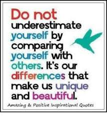 Image result for quotes on why you should not compare yourself to others