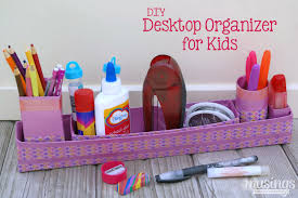 Diy Desk Organizer Diy Desktop Organizer For Kids Musings From A Stay At Home Mom