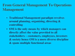 General And Operations Managers Dom 511 Operations Management Practice 1 Overview Ppt