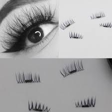 4pcs 1 pair 3d reusable magnetic magnet false eyelashes no glue handmade natural extension eye lashes in plastic box incoins com imall com