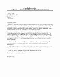 Cover Letter For Asset Management Position Lovely Sample Cover