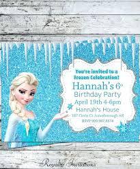Frozen Birthday Party Invites Invitation Cards