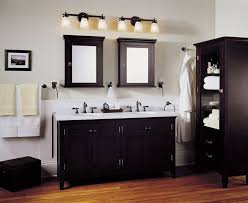 bathroom recessed lighting ideas espresso. Bathroom Lighting Ideas Double Vanity White Free Standin Marble Countertops Dual Lamp Brushed Nickel Finish Beige Recessed Espresso