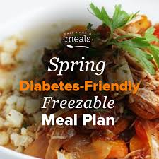 This list of the healthiest frozen family dinners can help you get a healthy family meal on the table, fast. Spring Diabetes Friendly Mini Freezer Meal Plan Vol 2 Once A Month Meals
