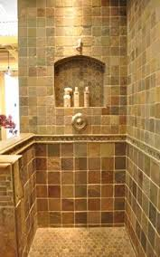 country bathroom shower ideas. Built In Shelf Ceased Into Tiled Shower Country Bathroom Ideas O