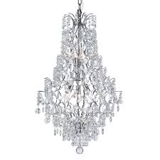 chandelier with cut crystal bead strands hover to zoom