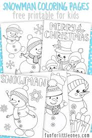 Snowman Coloring Pages For Kids Free Printable Fun For Little Ones