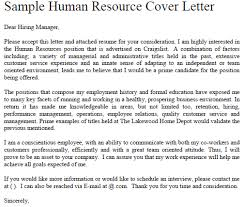 Sample Human Resources Cover Letters Pin By Diy Home Decor On Job Application Forms Human