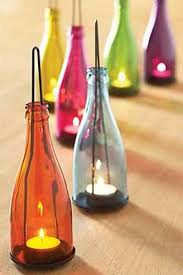 How To Decorate With Colored Glass Bottles