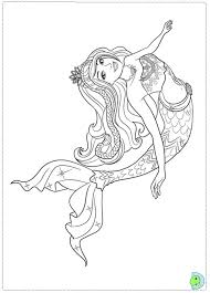 Cartoon Printable Barbie Mermaid Coloring Pages Coloring Tone