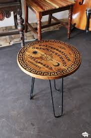 Ouija Board Coffee Table Carved Wood Ouija Spirit Board End Table Giveaway Fat Bison
