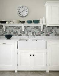 Kitchen Tile Pattern Patchwork Backsplash For Country Style Kitchen Ideas Homestead