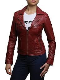 especially black brandslock womens genuine leather biker jacket slim fit vintage tuibpc