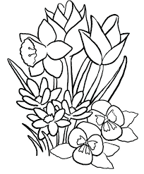 Spring Flower Coloring Pages Pdf Flower Coloring Pages As Well As