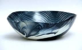 decorative glass bowl blown glass artisans decorative glass centerpiece serving bowl decorative