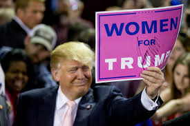 Image result for women and trump