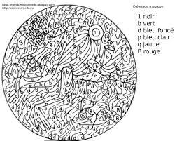 Maternelle Coloriage Magique Poissons