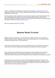 Resume Words To Avoid From Www Jobxray Com By Jobxray Jobxray Issuu