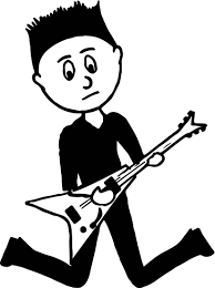 Small Picture Black Boy Teenager Playing Rock Guitar Playing The Guitar Coloring