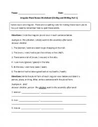 Confortable Plural Nouns Worksheets Free In Plural Nouns Worksheet ...