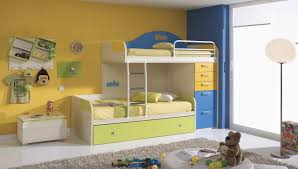 Kids Bunk Beds With Desk And Stairs Light Blue Table Bedside Bean