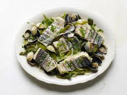 french fine dining menu ideas. basque-style fish with green peppers and manila clams french fine dining menu ideas h