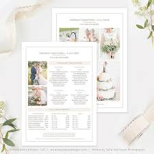Photography Pricing Template Wedding Photography Pricing Template Photography Price List