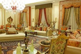 Example of a huge classic formal living room design in Other with beige  walls and no