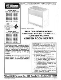 3501512 williams vented room heater manual location
