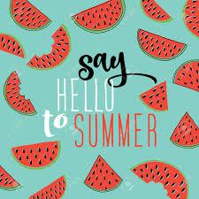 スイカの背景に夏の碑文によろしきます偉大な肯定的な夏ギフト カード