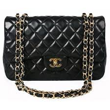 Authentic Chanel Black Quilted Lambskin Classic Flap Bag : M ... & Authentic Chanel Black Quilted Lambskin Classic Flap Bag : MALLERIES Adamdwight.com