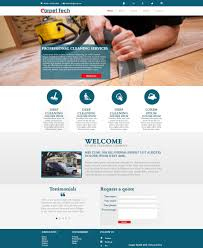 Carpet Cleaning Website Design Entry 31 By Icatoiu For Design A Website Mockup For A