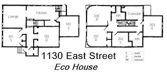 Eco House   Grinnell CollegeEco House Floor Plan
