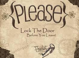 please lock door. Please Lock Door