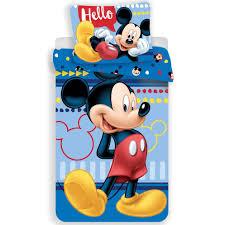 disney mickey mouse hello duvet cover single 140 x 200 cm multi