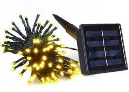 Wedding Solar LED String Lights Warm White Purple Solar Panel