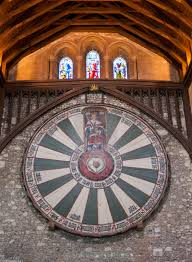 arthurs round table great hall winchester stock image