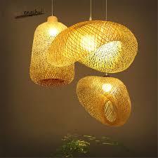 Rattan Pendant Light Us 29 5 41 Off Modern Bamboo Lamp Art Pendant Light Lighting Restaurant Hotel Rattan Pendant Lamp For Living Room Hanging Lamp Kitchen Fixtures On