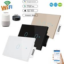 Control Lights Using Google Home Us 6 85 30 Off Us Standard Wifi Smart Switch Wireless Remote Control Light Home Automation Work With Alexa Google Home For Light Curtain Fan In