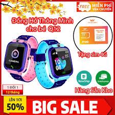 Đồng hồ thông minh Trẻ Em Q12 Định Vị, Nghe Gọi, Chống Nước IP67, Chụp Ảnh  (Bản Tiếng Việt)