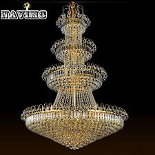 cm luxury big europe large gold er crystal font b chandelier b font light fixture classic