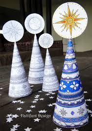 3d Christmas Tree Colouring Page For Grown Ups Red Ted Art S Blog