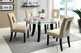 Enchanting Round Glass Kitchen Table Round Glass Dining Table For 4