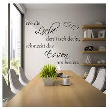 Wandtattoo Küche Esszimmer Wo Die Liebe Den Tisch Decktschmeckt Das Essen Am Besten100cm X 45cm Rot 120cm X 60cm