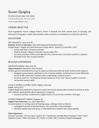 Sample Resume Career Objective Finance Graduate New Collection