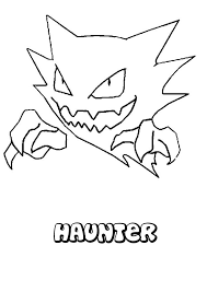Haunter Pokemon Coloring Page Coloring Pokemon Coloring Pokemon